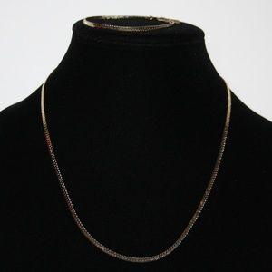 """Vintage necklace and bracelet set 20"""" 18k GP"""